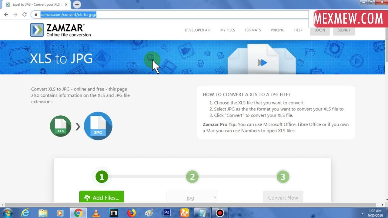 Cara Merubah File Microsoft Excel Menjadi File Gambar Online Youtube