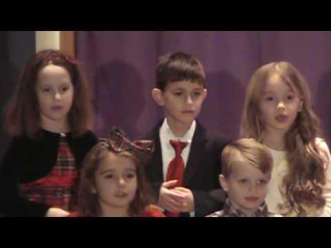 Academy of Saint Paul Kindergarten enjoys performing at their 2016 Christmas Pageant.