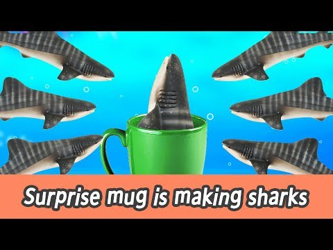 [EN] Surprise mug is making sharks!! kids education, let's learn sharks name, collecta #144ㅣCoCosToy