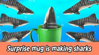 [EN] Surprise mug is making sharks!! kids counting number, sharks names, collecta #144ㅣCoCosToy