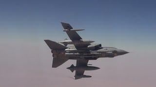 RAF Tornado GR4 Strike Aircraft Refuel Over Iraq During Operation Shader [HD]