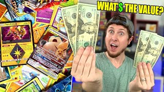 WHAT IS THE VALUE OF MY POKEMON CARDS? Opening Packs With Ultra Rares