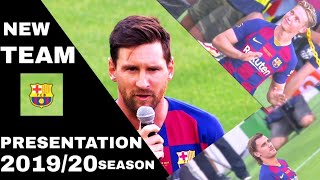 Fc barcelona new team presentation 2019 ...
