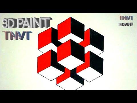 VẼ HÌNH KHỐI 3D|đơn giản cực đẹp | Drawing 3D Cubes | very beautiful and impressive |