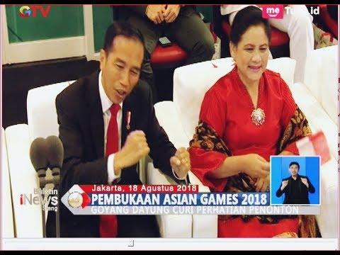 Asyiknya 'Goyang Dayung' Jokowi Saat Via Vallen Nyanyi Di Opening Asian Games 2018 - BIS 19/08