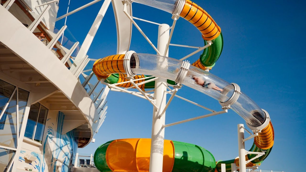 Download The Perfect Storm Water Slide onboard Symphony of the Seas Cruise Ship