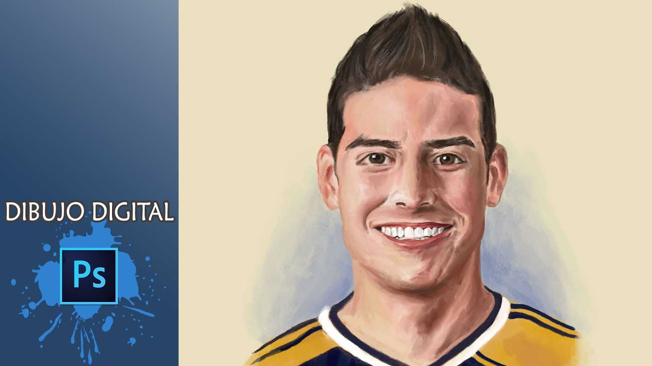 James Rodríguez Dibujo Digital Youtube