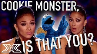 Cookie Monster Sound-alike Takes On Louis Armstrong's 'What A Wonderful World' | X Factor Global