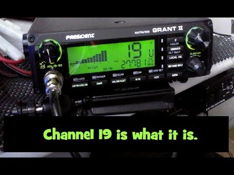 CB Radio. Channel 19. Can be a bit odd.