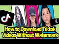 How to download tiktok videos without watermark    tiktok video downloader    snaptikapp
