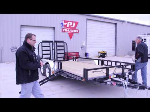 PJ U7 Dual Axle UtilityTrailer - Overview And Features