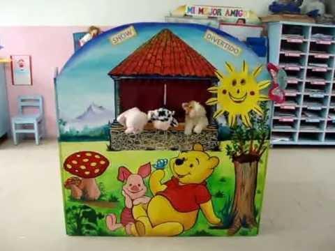 Titeres los animales de la granja youtube for Mural una familia chicana