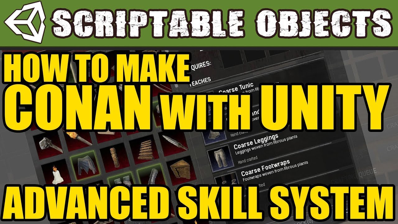 Unity Tutorial - How to make a Conan-Like Skill System with Scriptable  Objects!