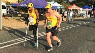 Recovering Drug Addict Finishes Comrades On Crutches