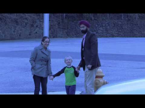 Sikhs Helping Boy Cross Street