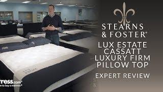 stearns foster lux estate cassatt luxury firm pillow top mattress expert review