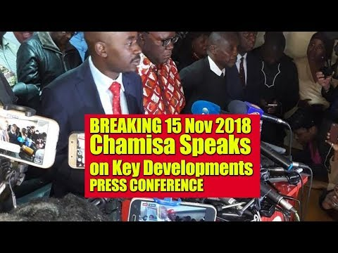 Breaking 15 Nov 2018, Chamisa Destroys Army and Police Lying Bosses at Public Press Conference Event