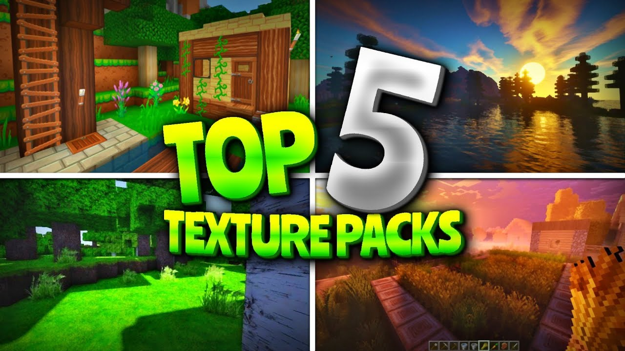 Top 5 Textures Packs For Mcpe Minecraft 1 2 Texture Packs Pocket Edition Win10 Consoles Youtube