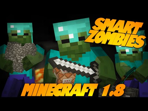 Minecraft Redstone | SMART ZOMBIES | Zombies Dig, Build, Run, & More! (Minecraft Redstone)