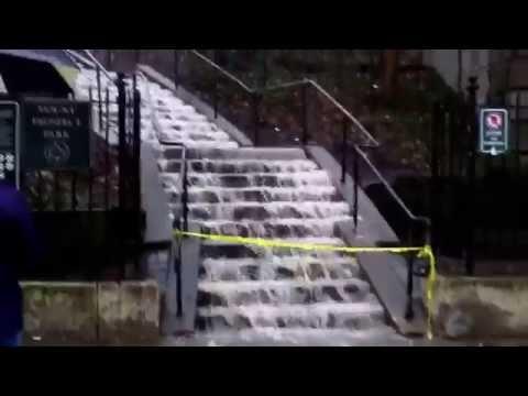 Rich Kaminski - Mt. Prospect Park - Rain Creates A Waterfall In Brooklyn