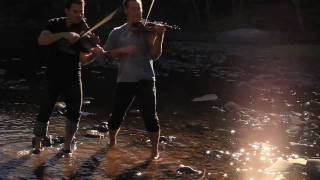 GREEN DAY, Coldplay, Pachelbel Canon Mashup - The Dueling Fiddlers Violin