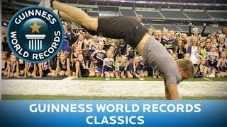 Guinness World Records Day 2013 - Most consecutive handsprings (male)