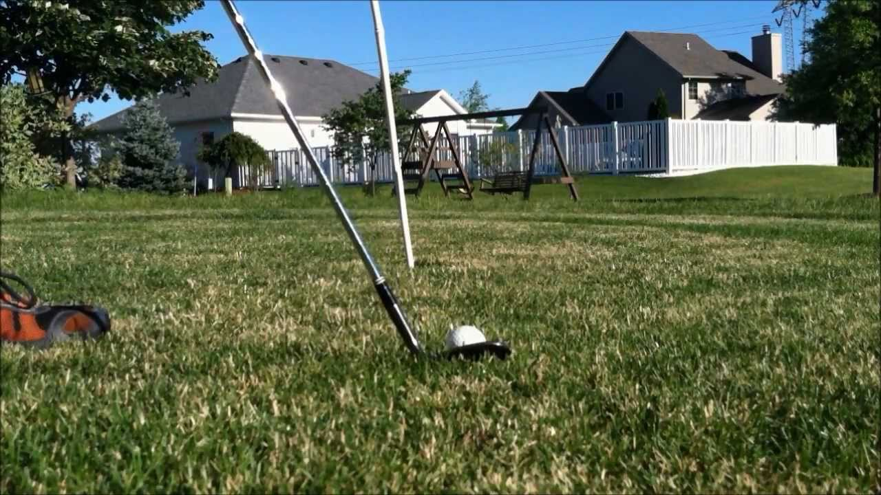 Image result for backyard golfing between houses pictures