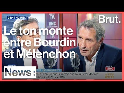 Grosse tension entre JeanLuc Mélenchon et JeanJacques Bourdin