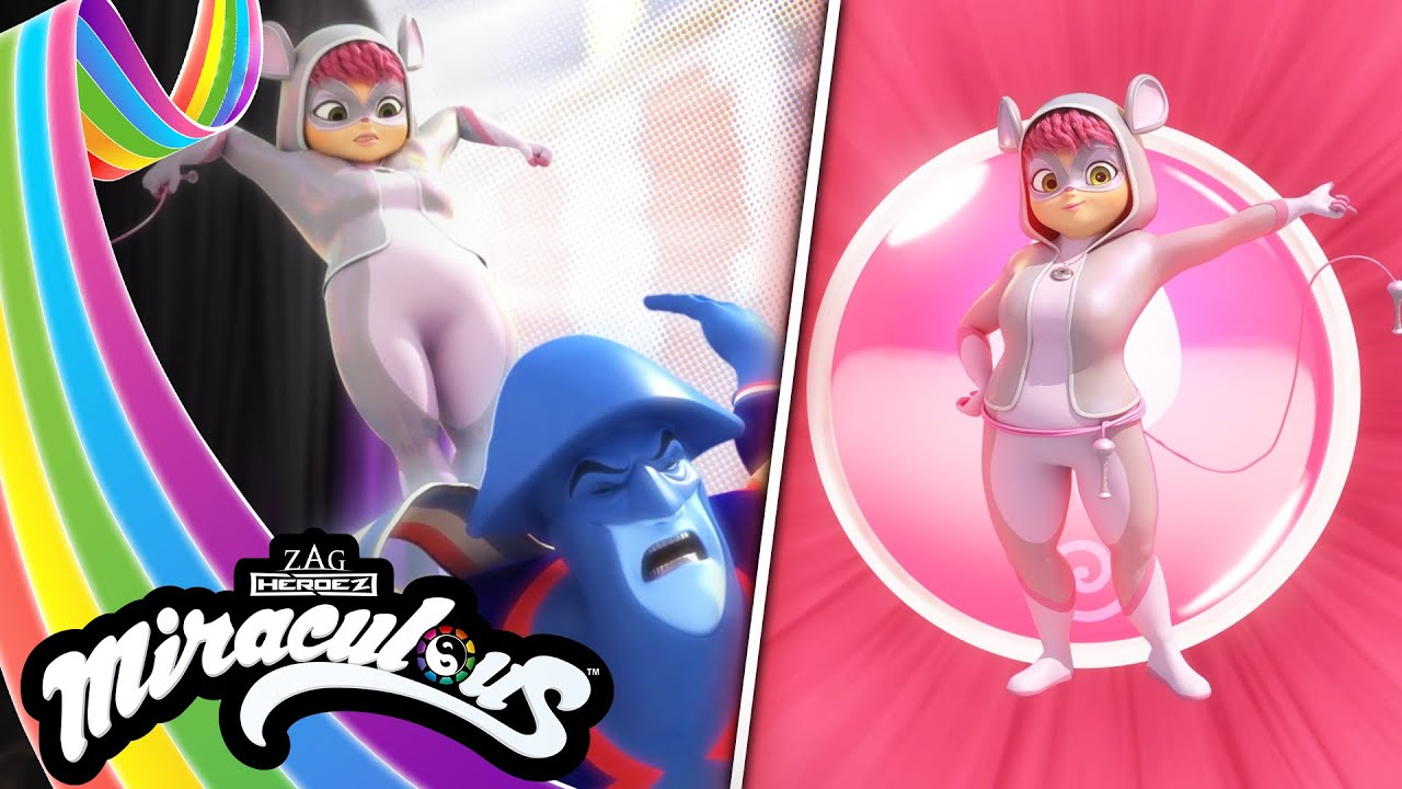 MIRACULOUS   🐞 POLYMOUSE - Transformation 🐭 ☯️   SEASON 4   Tales of Ladybug and Cat Noir