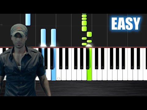 Enrique Iglesias - Bailando - EASY Piano Tutorial by PlutaX - Synthesia
