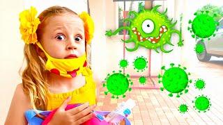 História Nastya para crianças como lutar contra vírus