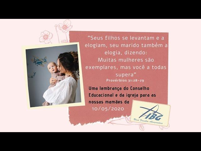 Culto dia das Mães - 10/05/2020 - 9h