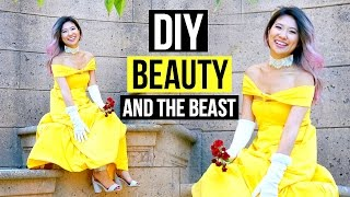 DIY Beauty and the Beast Costume + Makeup Tutorial!
