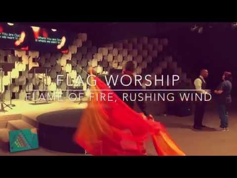 Praise & Worship Flags Dance Music flame of fire, rushing wind by Bryan & Katie Torwalt