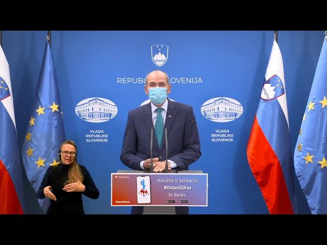Premier Janez Janša: Pred nami je teden boja za zaustavitev širjenja virusa med nami (22okt2020)