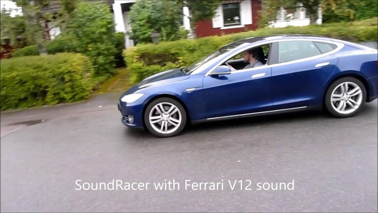 Soundracer gadget makes a Tesla sound like a Shelby V8 (or