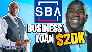 Fast Business Loans 2020 | How To Get $20k Majic Johnson SBA Business Loan?