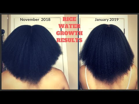 RICE WATER IS MAKING MY HAIR GROW LIKE CRAZY!! | 8 WEEK RESULTS