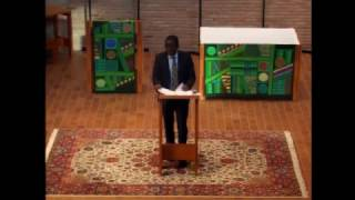 Kenneth Mtata - Burgess Lecture 2017