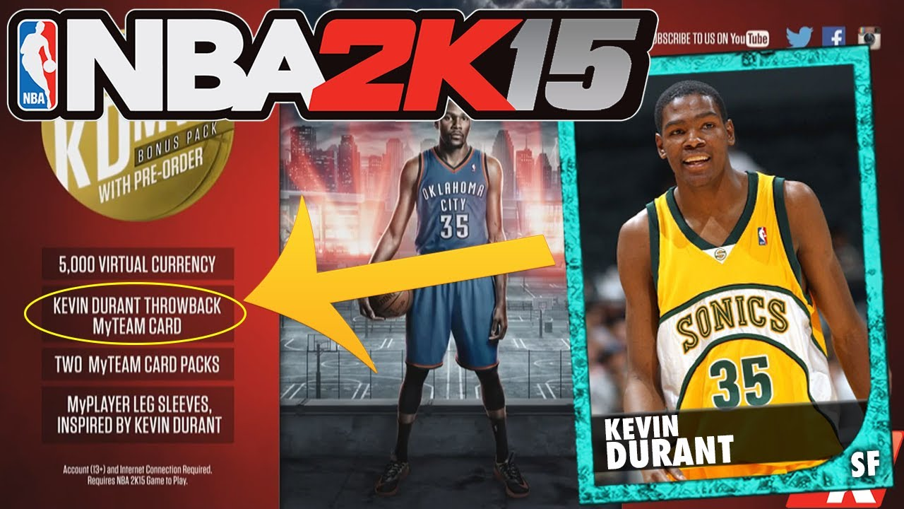 brand new 4294f 06e19 NBA 2K15 THROWBACK KEVIN DURANT! More to come?