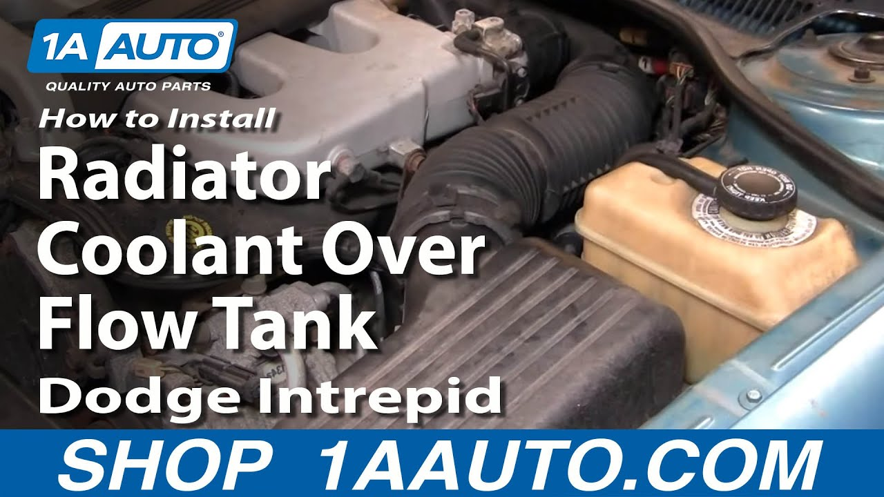 How to install replace radiator coolant over flow tank dodge intrepid 93 97 1aauto com youtube