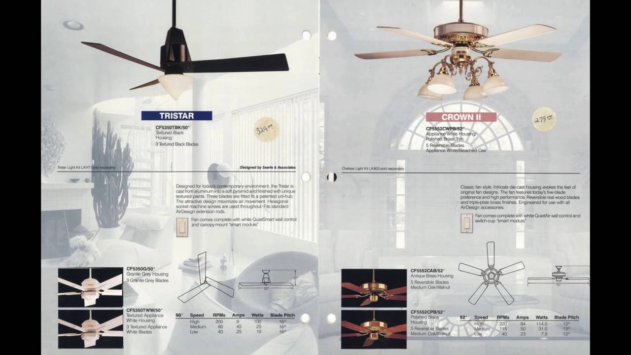 Emerson Air Design Ceiling Fan Catalog From 1991