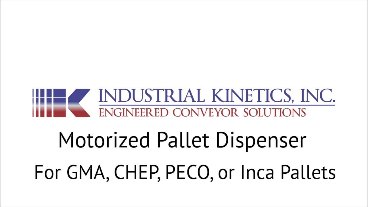 Motorized Pallet Dispenser for GMA, CHEP, PECO, & Inca Style