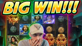 BIG WIN!!! The Sword and the Grail BIG WIN - Casino game from CasinoDaddy Live Stream