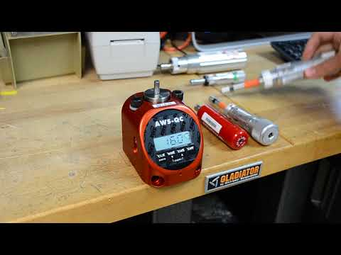 TT-QC Torque Tester Demo with manual torque screwdrivers