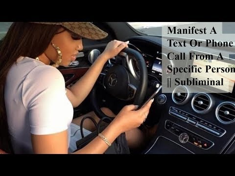 Manifest A Text Or Phone Call From A Specific Person || Subliminal