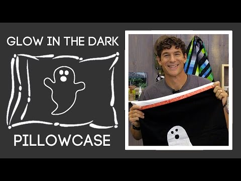 Glow In The Dark Pillowcase Trick Or Treat Bag: Burrito Pillow Case Tutorial