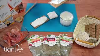 Бутерброды с заправкой на основе белкового микса ванильного Active Life TianDe