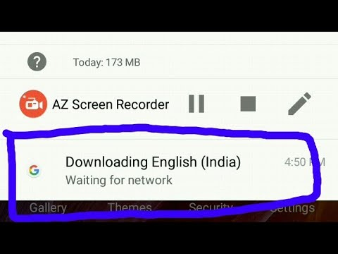 How to clear | downloading English India waiting for wifi |