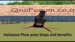Halasana steps and benefits Plow pose || natural cures for constipation.